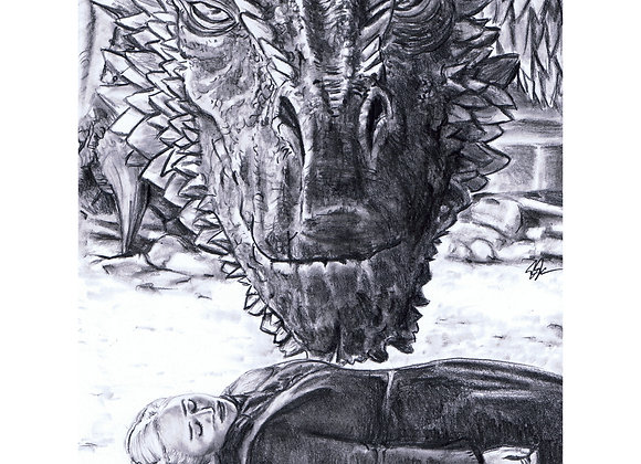 "Emilia Clark ""Daenerys and Drogon"""
