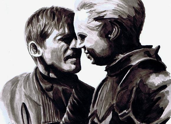 Gwendoline Christie, Nikolaj Coster-Waldau, Brienne of Tarth, Jaime Lannister