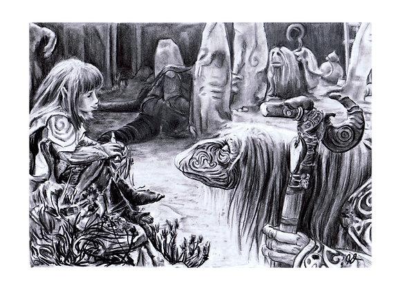 """Gelfling and Mystic """"Dark Crystal"""""""