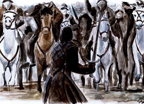"""Kit Harington """"Jon Snow Battle of the Bastards"""""""