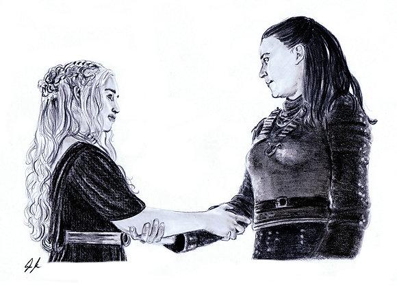 "Emilia Clarke & Gemma Whelan ""Daenerys Targaryen & Yara Greyjoy"""