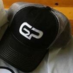 Black G2P hat with grey mesh