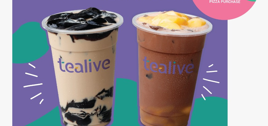 Tealive Available In Selected Domino's Stores Now!