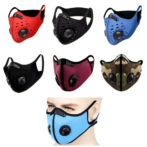 Face Mask Protection, Washable Breathable, with Activated Carbon Filters