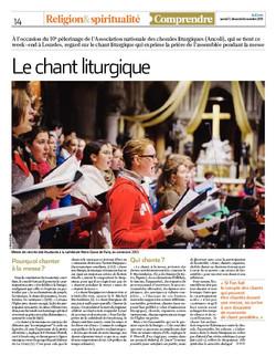 La Croix 2015-12-07 Chant Liturgique