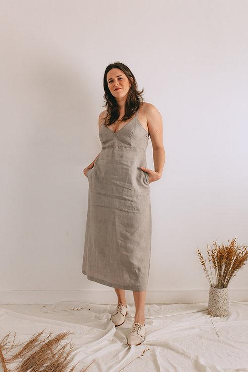 Vestido Ana Cinza