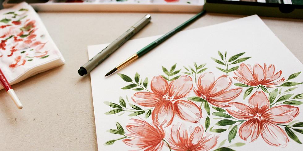 Make It - Take It Flower Drawing