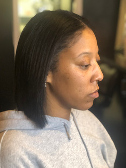 silk press and hair cut