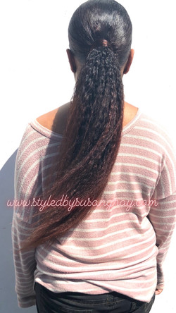 Extension Ponytail with custom color