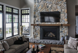 Connecticut Stone | Custom Blend & Magra Hearth | Brown Natural Mantel