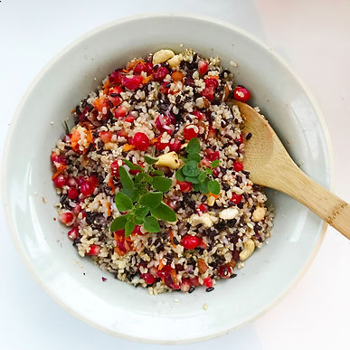 Polyphenol rich rice salad