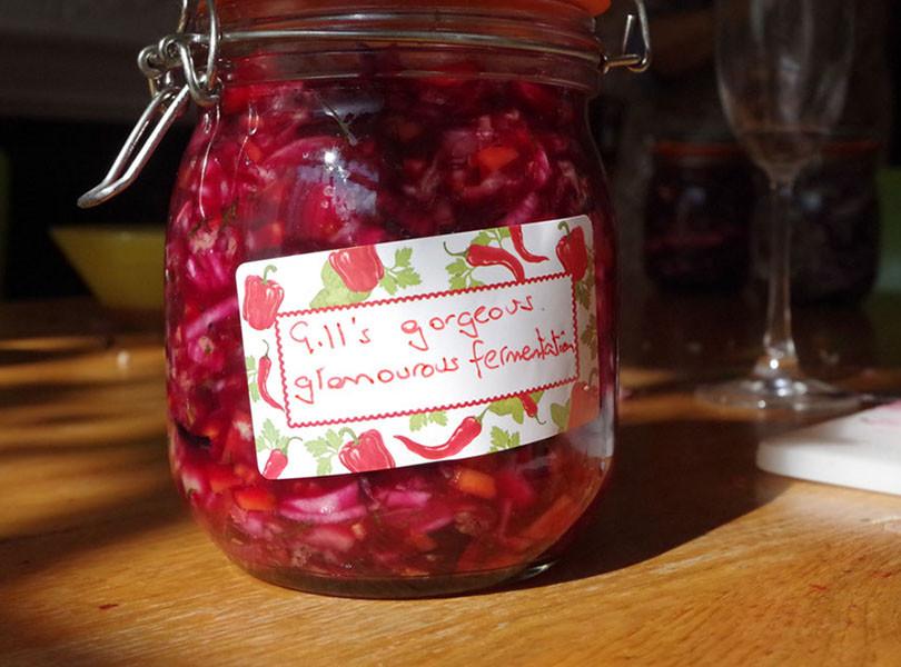 Everyone takes home their unique jar