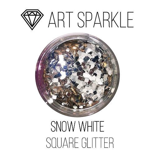 Глиттер серии SquareGlitter, Snow White,50гр
