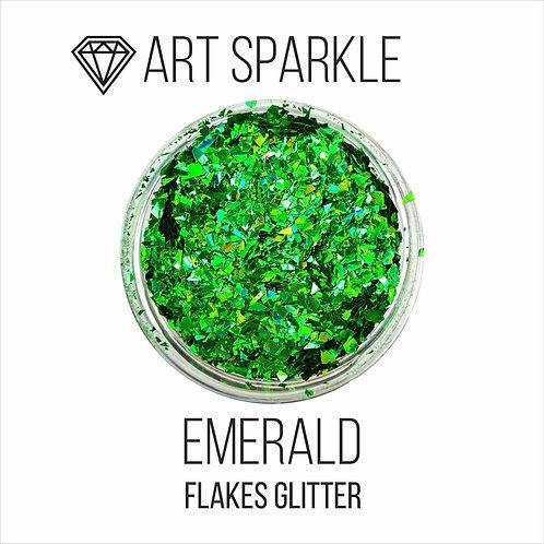 Глиттер серии FlakesGlitter, Emerald