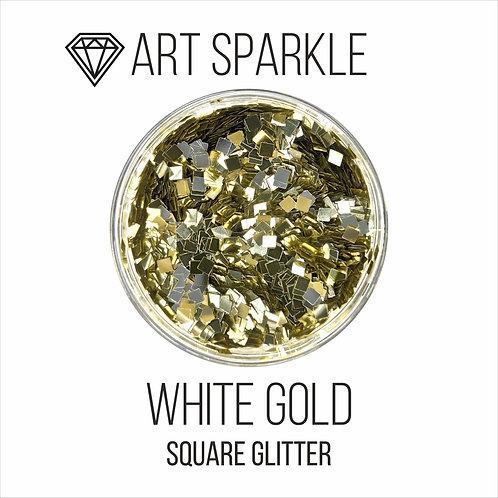 Глиттер серии SquareGlitter,White Gold,50гр