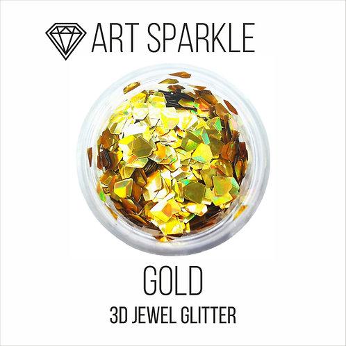 Глиттер серии 3D Jewel Glitter, Gold, 10гр