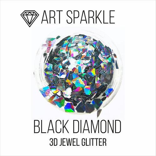 Глиттер серии 3D Jewel Glitter, Black Diamond