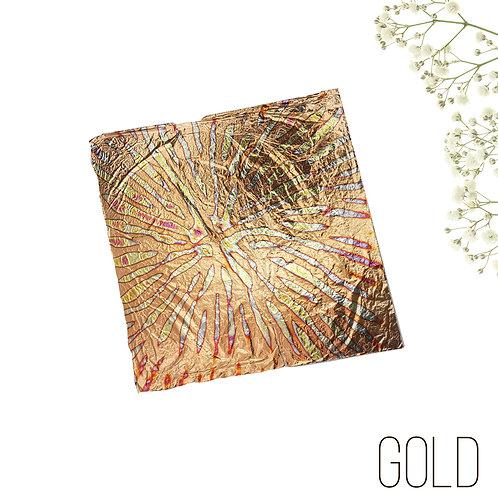 """Поталь-фольга с разводами Multicolor Patter №2 """"Gold"""", 10шт., 14х14см"""