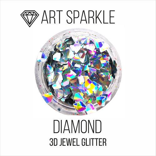 Глиттер серии 3D Jewel Glitter,Diamond, 10гр