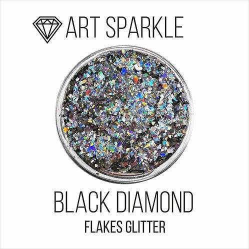 Глиттер серии FlakesGlitter,Black Diamond