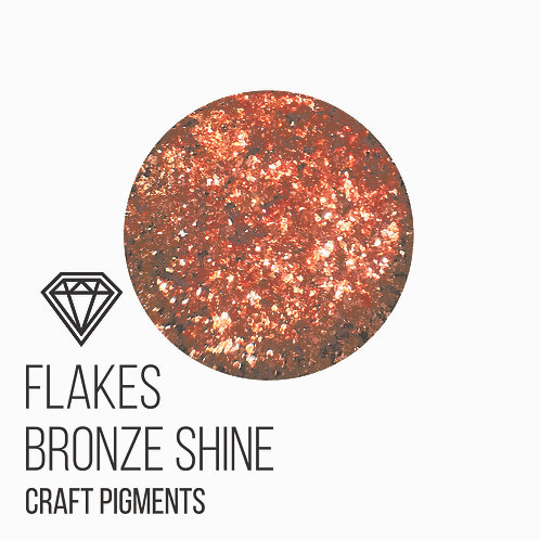 CraftPigments Flakes  Bronze Shine 25мл