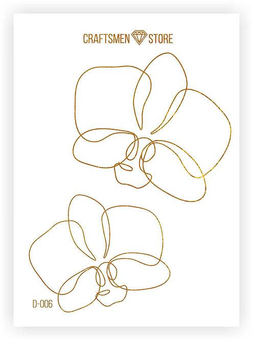 Наклейка серия Line Art D-006