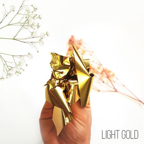"Зеркальная поталь ""Mirror Shine"", Light Gold, 50шт. 8*8,5см"