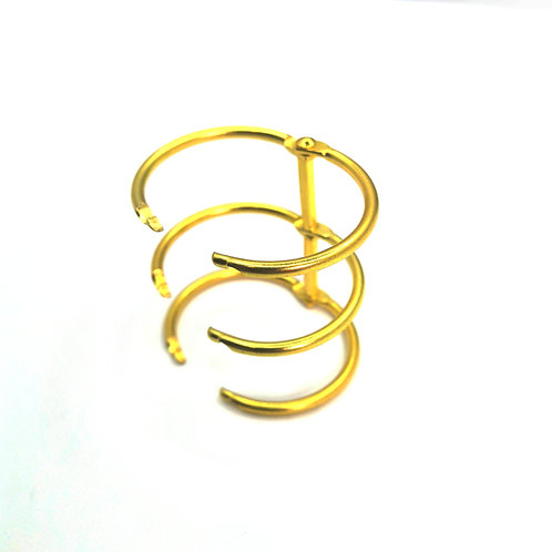 Triple rings for notepad, 2pcs - gold