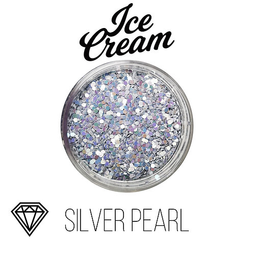 Глиттер серии Ice Cream, Silver Pearl, 15гр