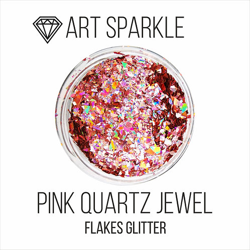 Глиттер серии FlakesGlitter, Pink Quartz Jewel