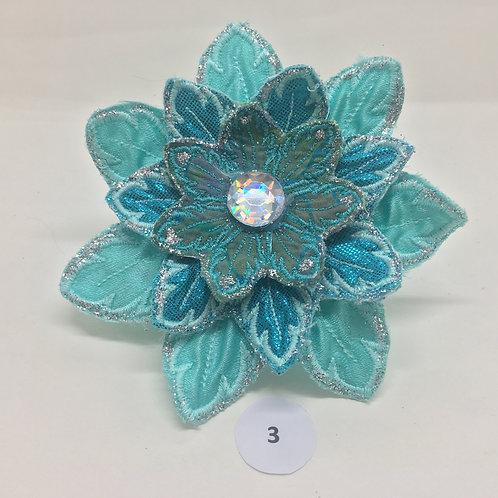 Large Teal & Blue Flowers
