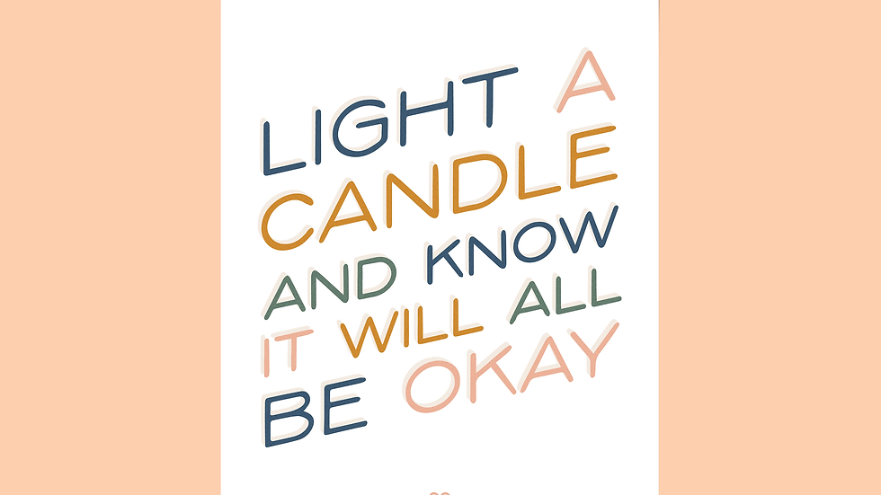 Light A Candle Print