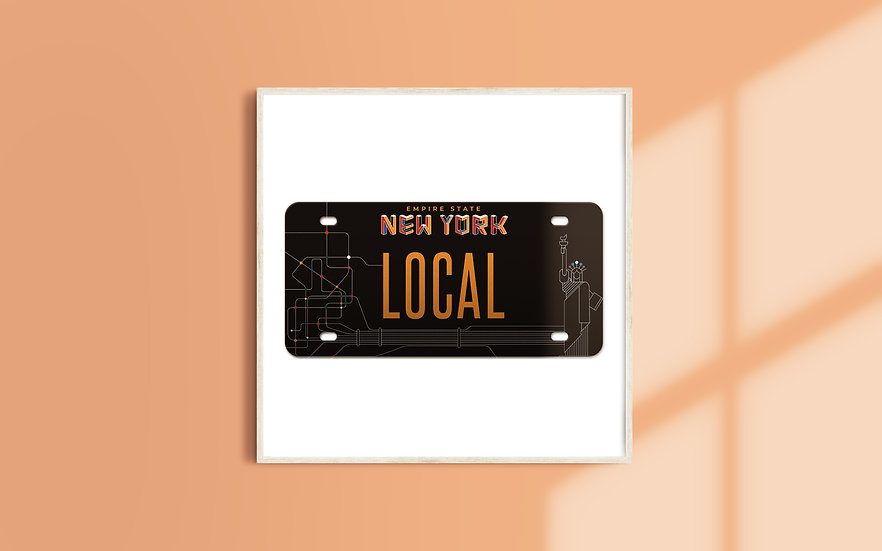 New York License Plate