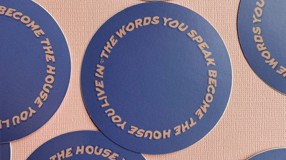 The Words You Speak Sticker