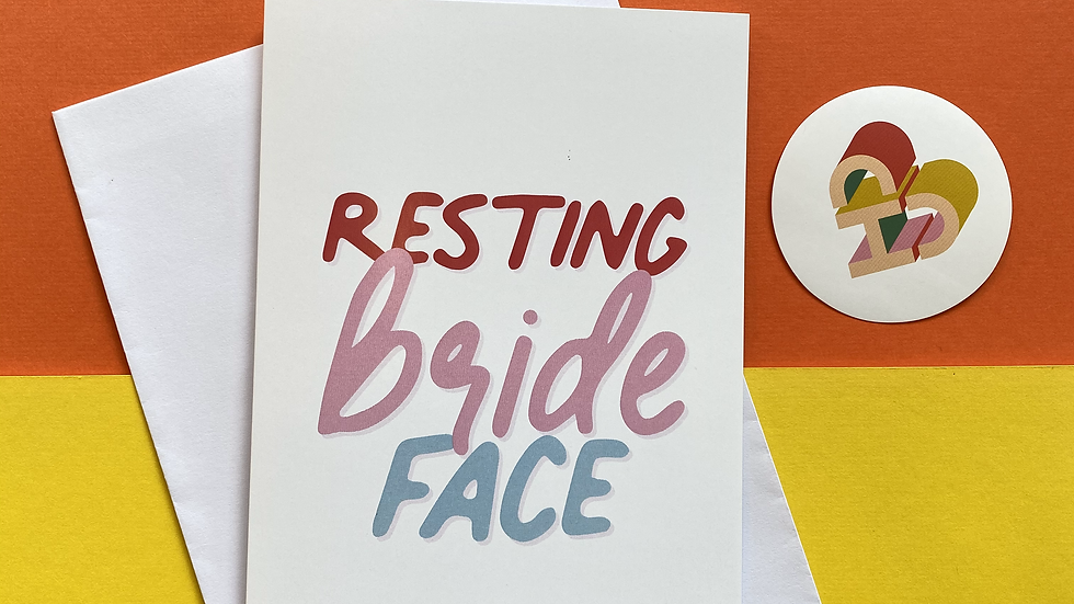 Resting Bride Face Card