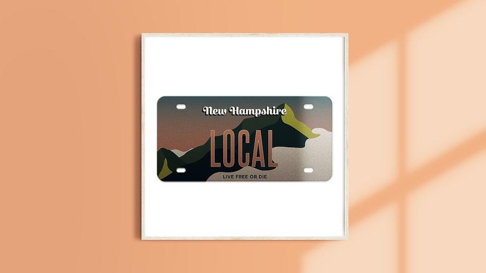 New Hampshire License Plate