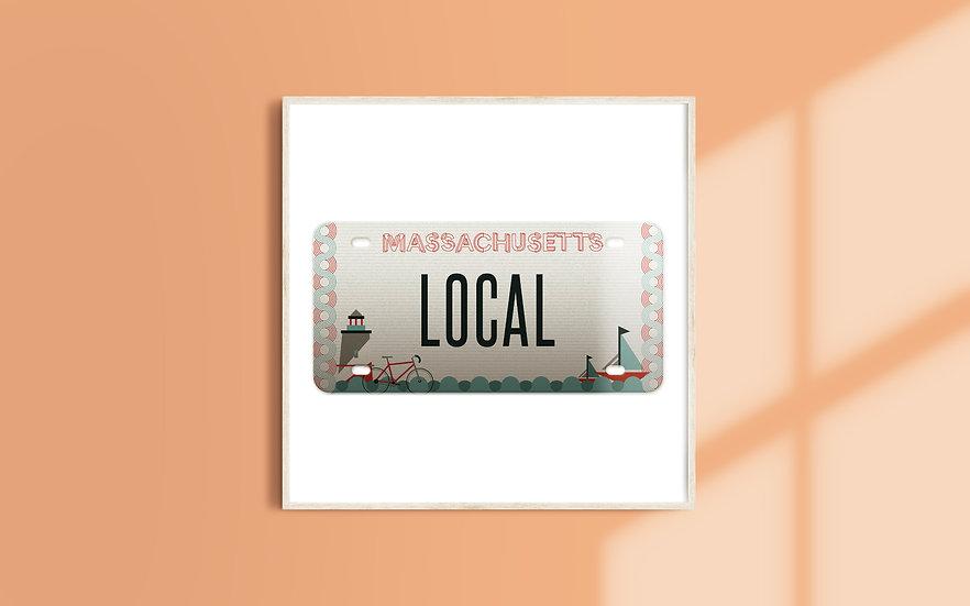 Massachusetts License Plate