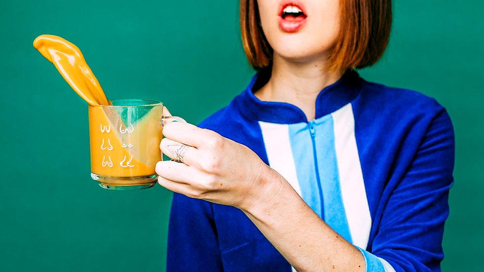 Glass Boob Mug