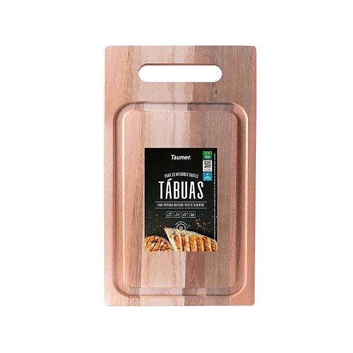 Tábua de Madeira para Carnes e Legumes com Alça - Wood