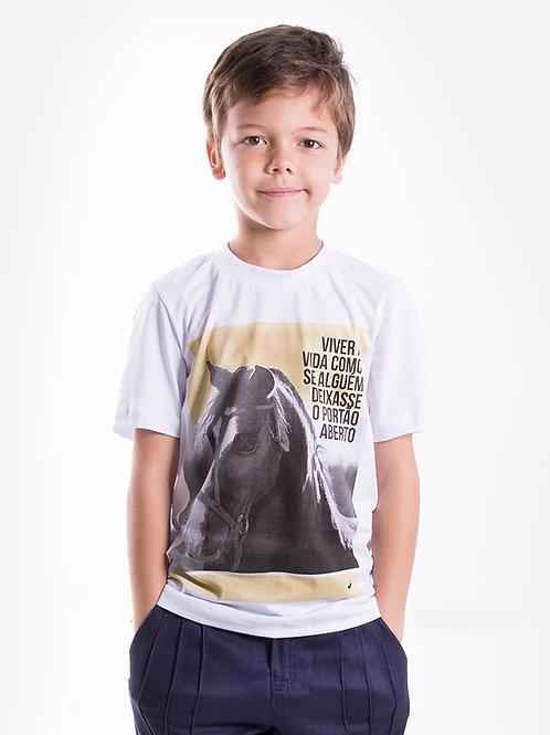 Frente Camiseta Masculina Infantil - Liberdade