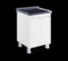 Tanque para lavar roupas em MDF com esfregador em marmorite