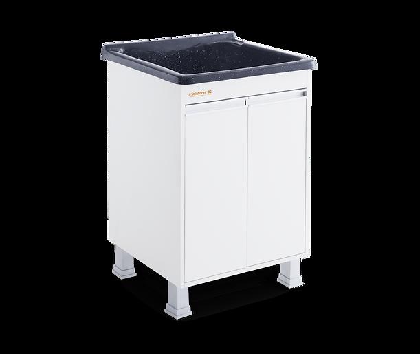 Tanque para lavar roupas em MDF com esfregador em marmorite Stilofibras