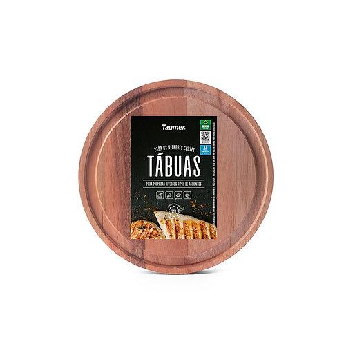 Tábua de Madeira Redonda para Carnes e Legumes - Wood