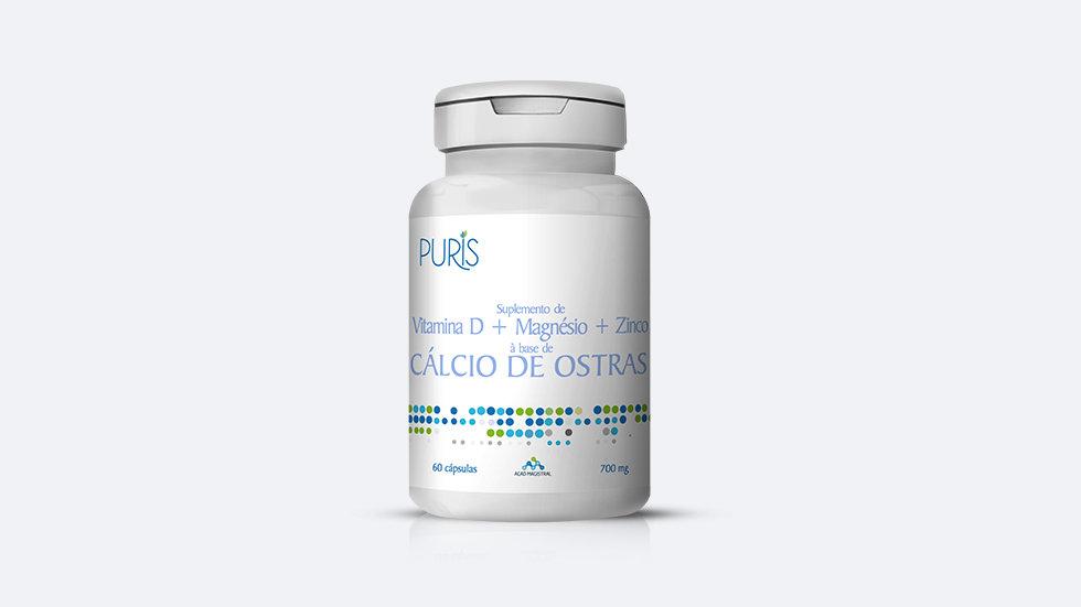 Cálcio + Vitamina D + Magnésio + Zinco