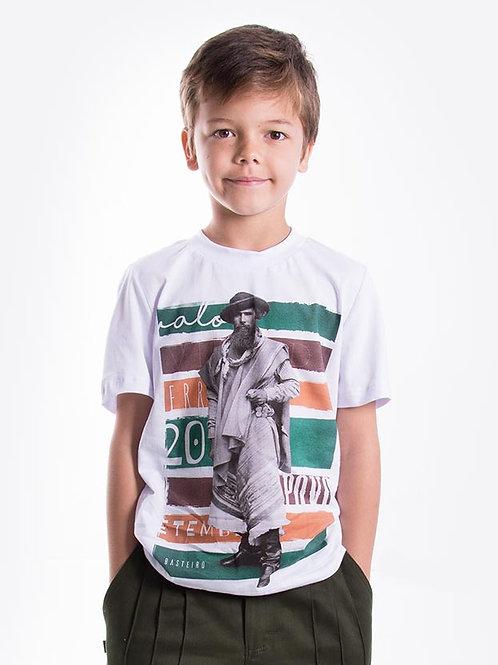 Frente Camiseta Masculina Infantil - Paisano