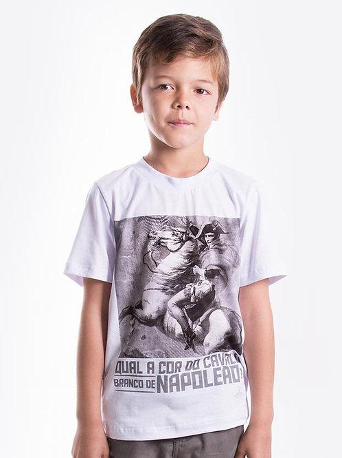 Frente Camiseta Masculina Infantil - Napoleão Bonaparte