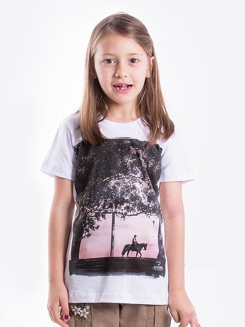 Frente Blusa Feminina Infantil - Solito no Más