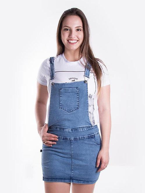 Frente Jardineira Jeans