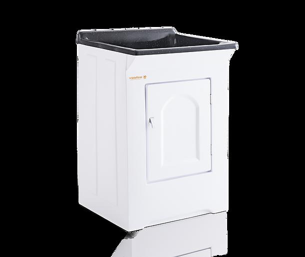 Tanque para lavar roupas em Fibra com esfregador em marmorite Stilofibras