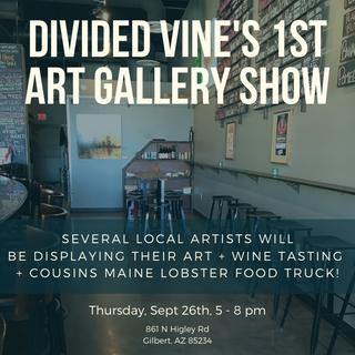 Divided Vine Art Show Advertisement